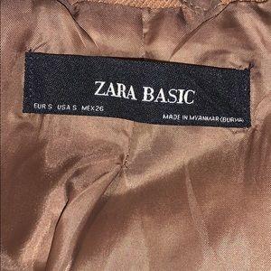 Caramel Coloured Pea Coat from Zara